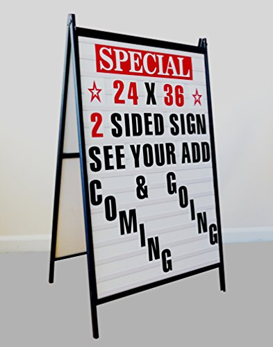 Sidewalk A Frame Changeable Letters Message Sign with 4 inch Letters - Sign Folding Sidewalk