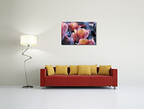Dark and Yellow Orange Tulips Wall Decor Wood Framed