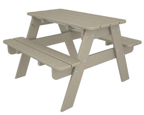 POLYWOOD KT130SA Kids Picnic Table, Sand