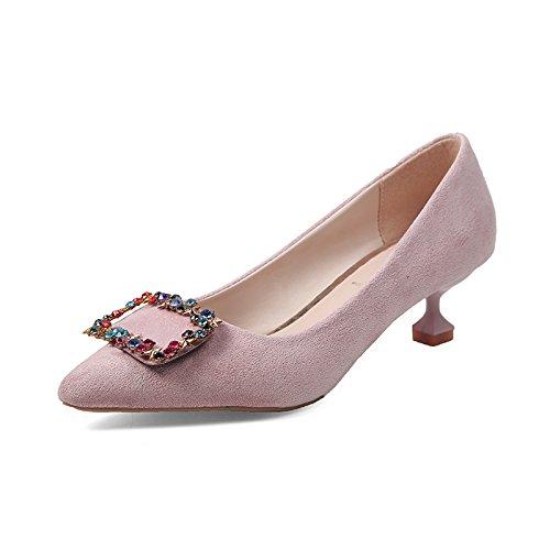 Casual La Sola Alto De De De Mujer Luz Seguido Por Zapatos Zapatos Color 3 Captar De GAOLIM La Agua De Punta Perforación 5Cm Mujer Zapatos De Para Talón Rosa Zapatos TnU1xg