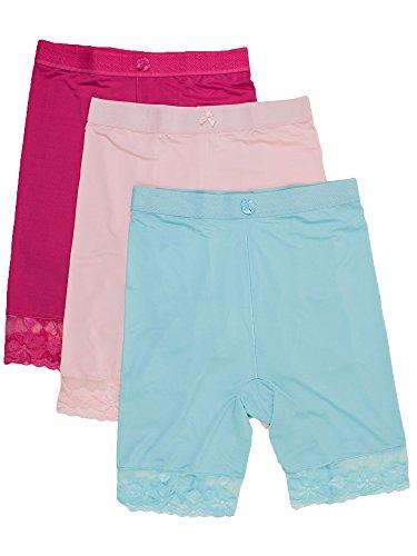 Barbra's 3 Packs Shapewear Smooth Hi-Waist Under Skirt Slip Short Panties