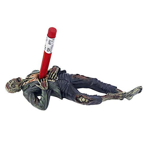 Death Desk Accessories - Impaled Zombie Figure - Pencil Holder - Zombie Decorations -