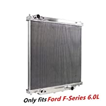 Prime Cooling, High Performance Aluminum Radiator for Ford F250 F350 6.0L Powerstroke Engine