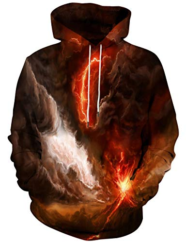 Yasswete Unisex Hooded Sweatshirts Pullover Cool Print Outwear Small ()