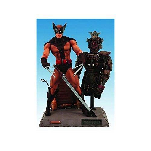 FIGURA LOBEZNO TRAJE MARRON MARVEL SELECT 18 cm: Amazon.es ...