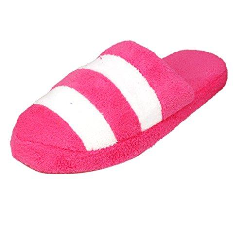 Elevin (tm) Donna Inverno Caldo Coperta Bowknot Pantofole Di Cotone Casa Antiscivolo Scarpe Rosa Caldo