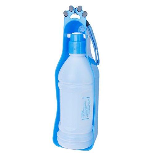 Critter Brite 8 Oz Bottle (Topbeu Portable Pet Dog Cat Travel Water Bottle Water Drinking Feeder Bottle (S:350ml, Blue))