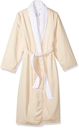 Kassatex SRK-148-CR Spa Robe, Cream - Robe Mens Microfiber