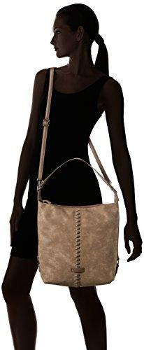 Tamaris Damen Lyra Hobo Bag Schultertaschen, Beige (Taupe Comb 349), 35x34x12 cm