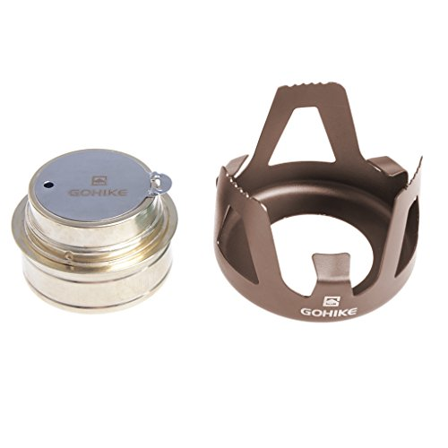 Cheap Spirit Alcohol Stove for Outdoor Sports Backpacking Camping Hiking (Bronze)