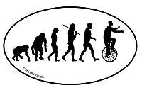 Einrad Zirkus Manege Artist Evolution Aufkleber Autoaufkleber Sticker...