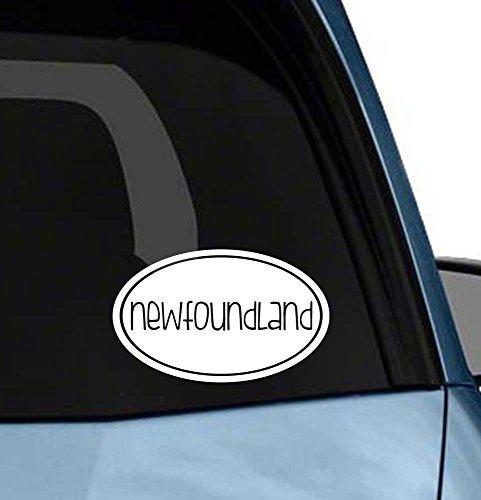 Cute Dog euro oval sticker car window or laptop vinyl decal art (Choose your dog please) (Newfoundland) ()
