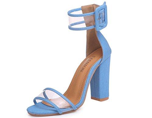 de del del de Caña multicoloras los datan Mujeres Que de 43 Sandalias la Sandalias Skyblue Frescas Calado Tobillo Las Hueco Zapatos wgIFxcaqz