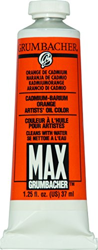 Grumbacher Max Water Miscible Oil Paint, 37ml/1.25 oz, Cadmium ()