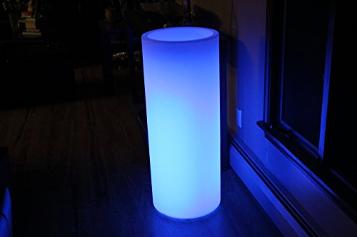 Led Column Flower Pot Cordless Waterproof with Remote Control 38'' Tall by Led Planet Lighting