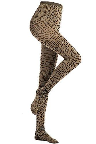 Stocking Fox Women's 80-Denier Tiger-Print Tight