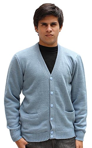 mens-alpaca-wool-golf-cardigan-sweater-v-neck-button-down-coat-xl-soft-blue