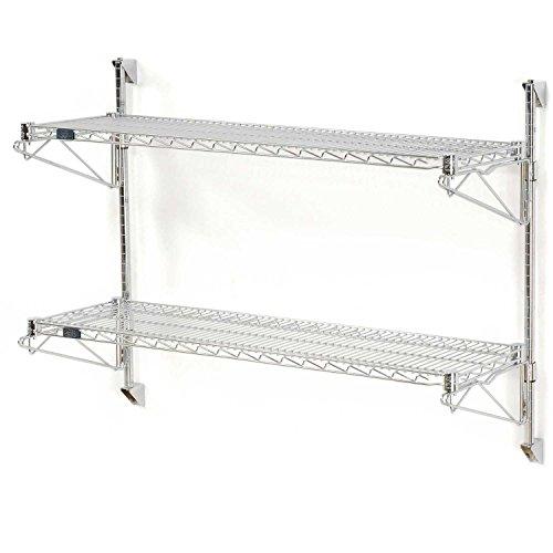 Nexel Wall Mount Wire 2-Shelf Starter Unit, 24