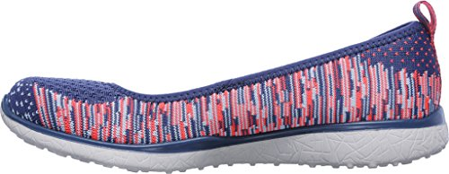 Microburst Blu Perfect blu Slip Skechers On Note Scarpe Womens Rosa qvB0xCnd