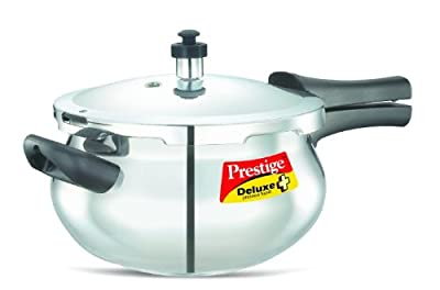 Prestige Deluxe Stainless Steel Handi Cooker, 4.5 Liters by Aj Distributors Inc