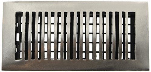 Decor Grates LA410-NKL 4-Inch by 10-Inch Aluminum Floor Register, - Register Nickel Floor