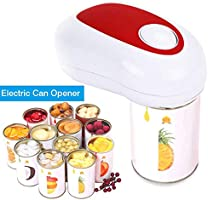 Electric Can Opener Battery Operated Smooth Soft Edge with One-Touch Start Automatic Can//Tin Opener Restaurant Can Opener Hand Free Portable Can Opener Tool for Chef