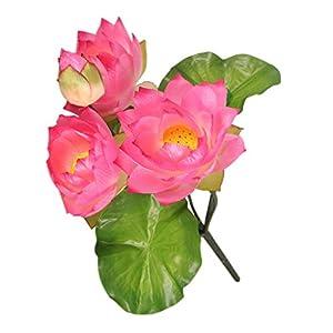 MonkeyJack DIY Wedding Water Lily Silk Flowers Arrangement Artificial Lotus Plant Decor – Pale Pink