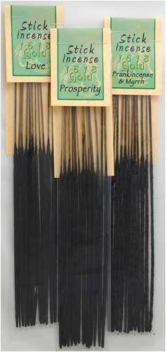 Banishing 1618 gold Incense Sticks (13 pack) by New Age (Incense Banishing Sticks)