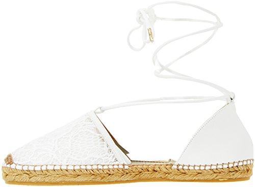 79a00158 Femme Espadrilles Trussardi Bianco Jeans xvnZgnqA8w