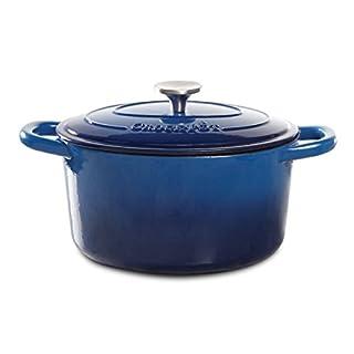 Crock Pot Artisan Round Enameled Cast Iron Dutch Oven, 7-Quart, Sapphire Blue