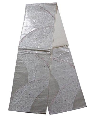 戻すホイッスル引き潮リサイクル 袋帯 滝文に菊の花模様 正絹 六通