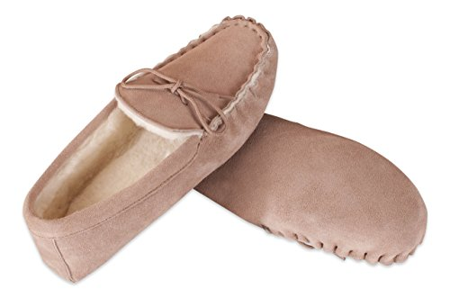 100 Suede Sheepskin Moccasin 100 Camel Soft Slippers Nordvek Sole Premium Mens 421 With wqZnt8waPx