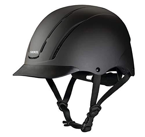 (Troxel Spirit Performance Helmet, Black Duratec, Medium)