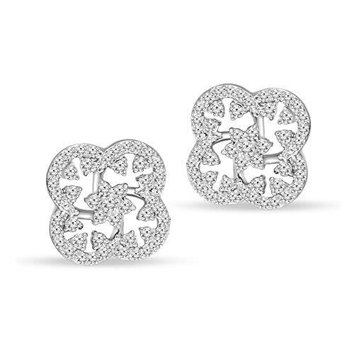 (100% Pure Diamond Earrings Luxury Fashion Earrings 1/3ct to 1/5ct IGI Certified Lab Grown Diamond Earrings Lab Created Diamond Earrings SI-FG Quality 10K Real Diamond Stud Earrings)