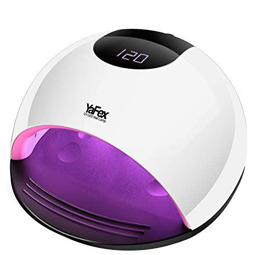 UV LED Nail Lamp - 72W Professional Nail Dryer for Gel Polish with 4 Timer, Sensor, Salon Quality UV Light Nail Art Tool for All Gel Nails Curing