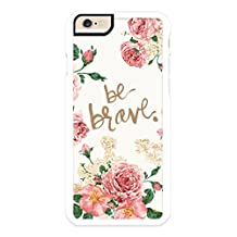 iPhone 6 Case, iPhone 6S Case, iZERCASE, [Floral Be Brave] [Perfect Fit ] for Apple iPhone 6, iPhone 6S, Best iPhone Case (ICE COFFEE)
