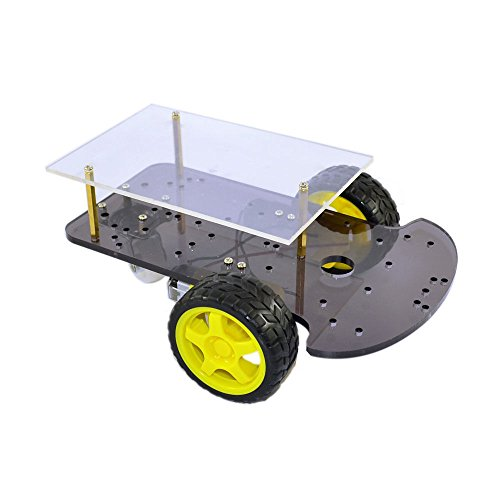 2WD Smart Car Robot Chassis for Arduino with Gear Motor Tyre Wheel DIY Car Kit by Aigh Auality shop
