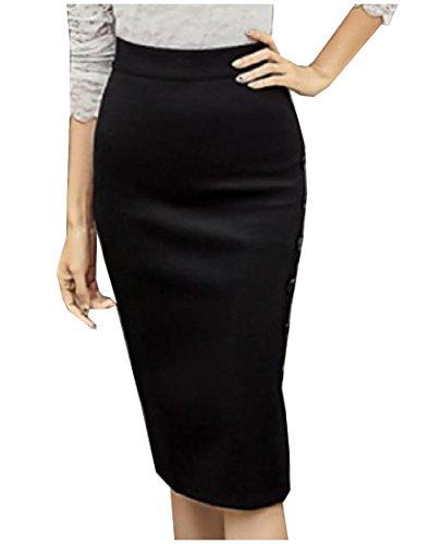 plus size pencil skirt with split - 6