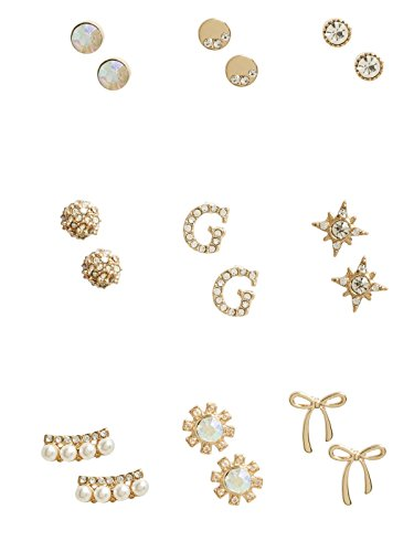 GUESS Factory Women's Gold-Tone Stud Earrings (Guess Set Earrings)
