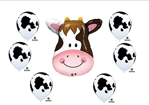 Cow print Birthday Party Baby Shower Farm Balloons Decorations Supplies