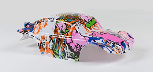 Compatible Custom Body Graffiti Pink Pig Style Replacement 1/10 1/8 Scale RC Car Truck (Truck not Included) B-PIG-01 ()