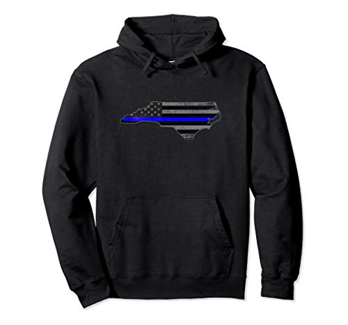 Sweatshirt Adult Police - North Carolina Police Officer's Department Hoodie Policemen
