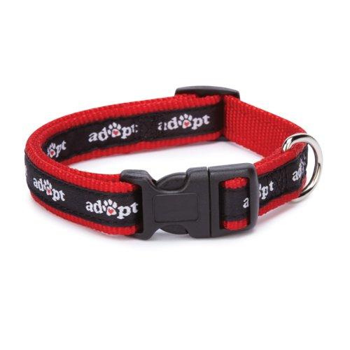 Casual Canine 10 to 16-Inch Nylon Adopt Dog Collar, Black