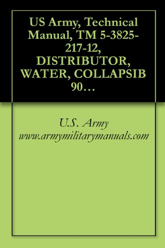 US Army, Technical Manual, TM 5-3825-217-12, DISTRIBUTOR, WATER, COLLAPSIB 900 GALLON, GRAVITY FEED, (US RUBBER MODEL CE-9C-2), military manuals