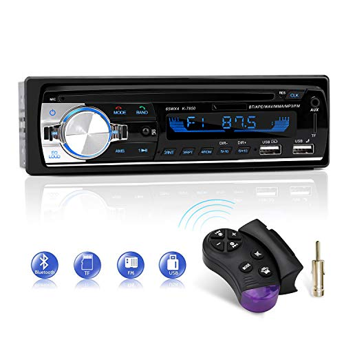 Car Radio Bluetooth Hands-Free, CENXINY 1 DIN Car Stereos with USB and CAR MP3 Player, 4x65W FM Radio, Support IOS and…