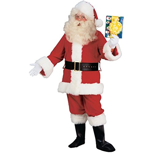 CHSGJY Santa Costume Adult Deluxe Plush Santa Claus Suit Christmas Fancy Dress XX-Large by CHSGJY