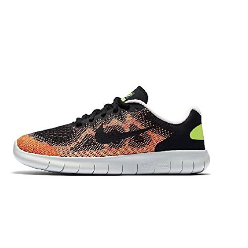 Nike Kids Free Rn (big) Black Hot Punch 003