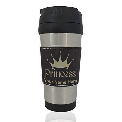 and leisure Mug Princess Crown Personalized Engraving bundled Black Commuter and leisure Mugs
