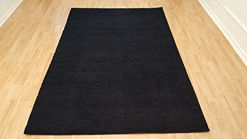 Shaggy Area Rugs Collection Plain Colors Area Rugs Contemporary Living & Bedroom Shaggy Area Rugs (7'7