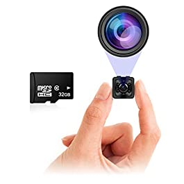 Small Hidden Mini Spy Camera – Secret Tiny Spy Cam for Home or Car with Motion Detection, Night Vision, Video, Micro Security Nanny Cameras and Hidden Cameras, Camaras Espias, No Wireless WiFi Needed